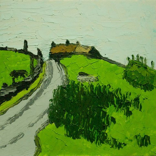 Kyffin Williams - Ponies and Farm