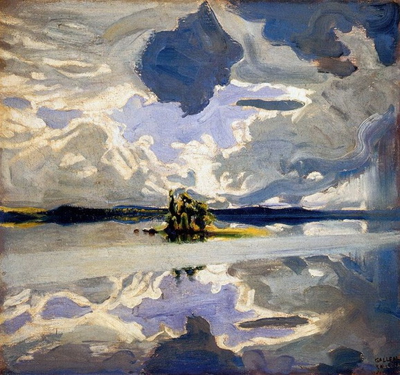 Akseli Gallen-Kallela - Clouds over a Lake