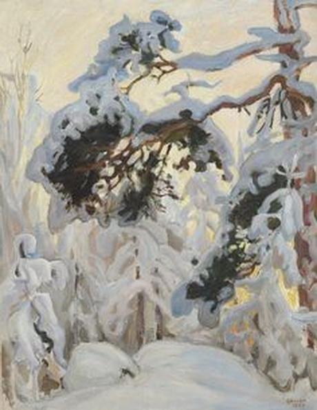 Akseli Gallen-Kallela -   Winter fores