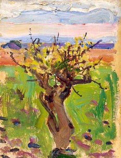 Akseli Gallen-Kallela - Dwarf Tree in the Desert