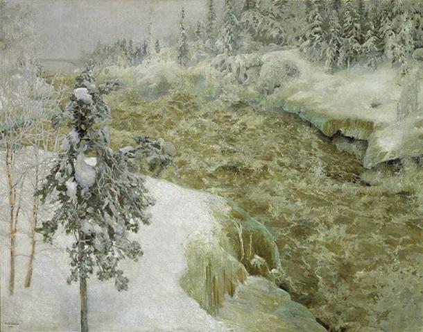 Akseli Gallen-Kallela - Imatra in Winter