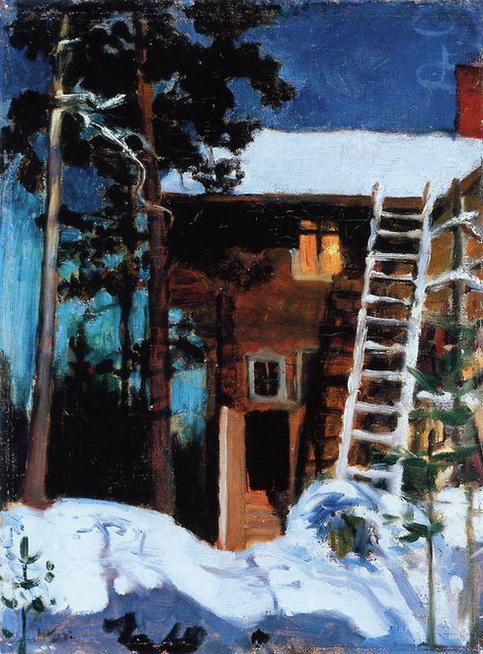 Akseli Gallen-Kallela - Kalela in Winter