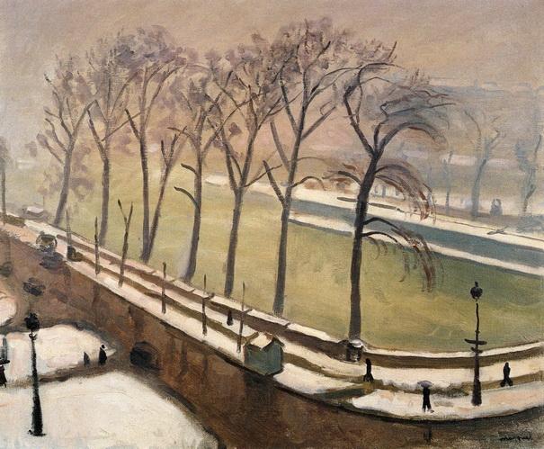 Albert Marquet -  Pont-Neuf in the Snow