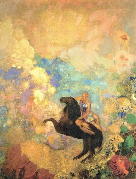 Odilon Redon - Muse with Pegasus