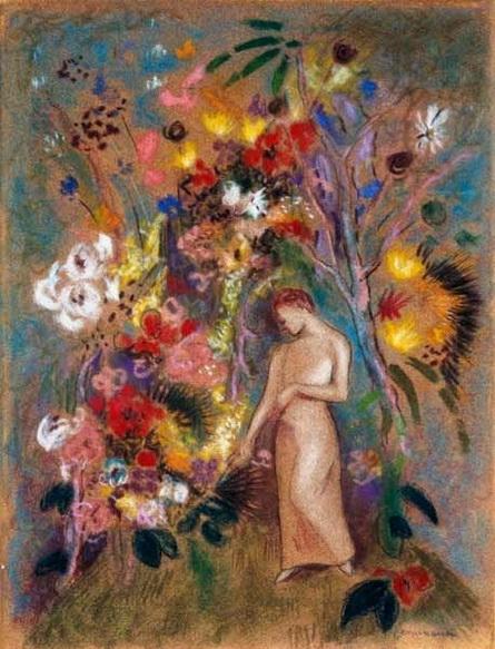 Odilon Redon - Woman in Flowers