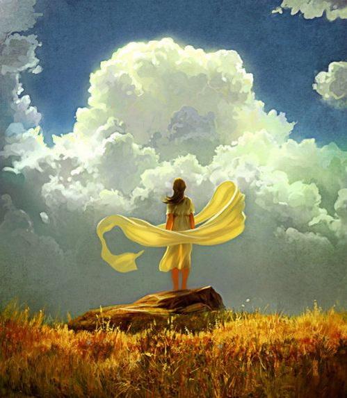 Maxfield Parrish - The Wind