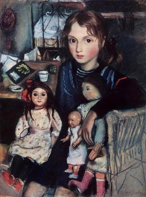 Серебрякова - Дочка Катя с куклами