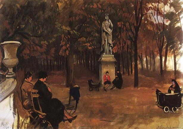 Серебрякова - Париж. Люксембургский сад