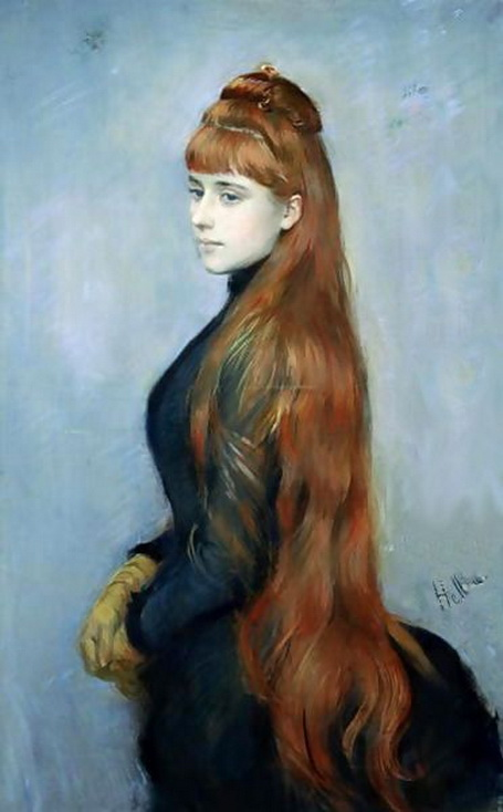 Paul Cesar Helleu -  Portrait of Alice Guerin