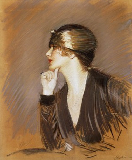 Paul Cesar Helleu -  Portrait of Lucette