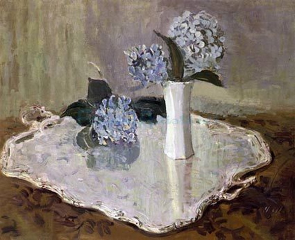 Paul Cesar Helleu -  still life with hydrangeas
