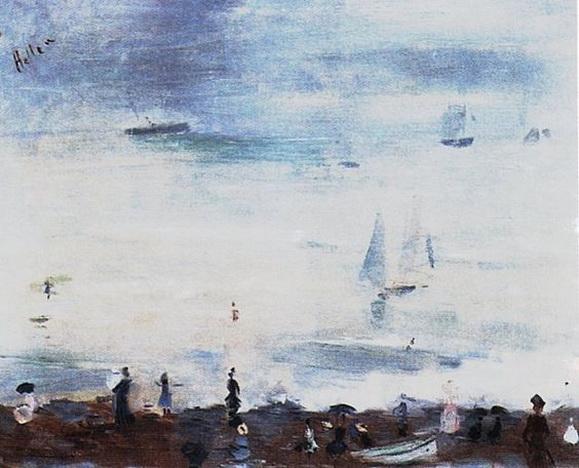 Paul Cesar Helleu -  Sur la plage, Dieppe