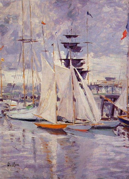 Paul Cesar Helleu -  The Harbour at Deauville