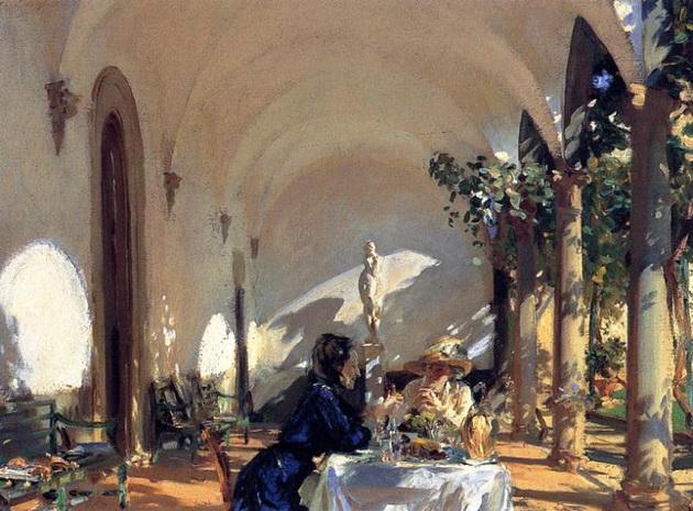 John Singer Sargent  - Breakfast in the Loggia
