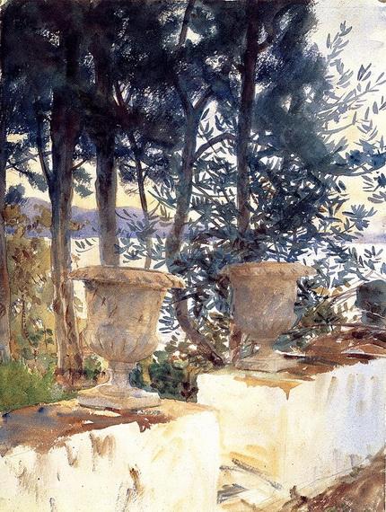 John Singer Sargent  - Corfu.the-terrace-1909