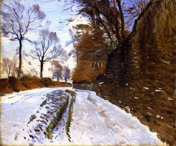 John Singer Sargent  - Country Road in Winter