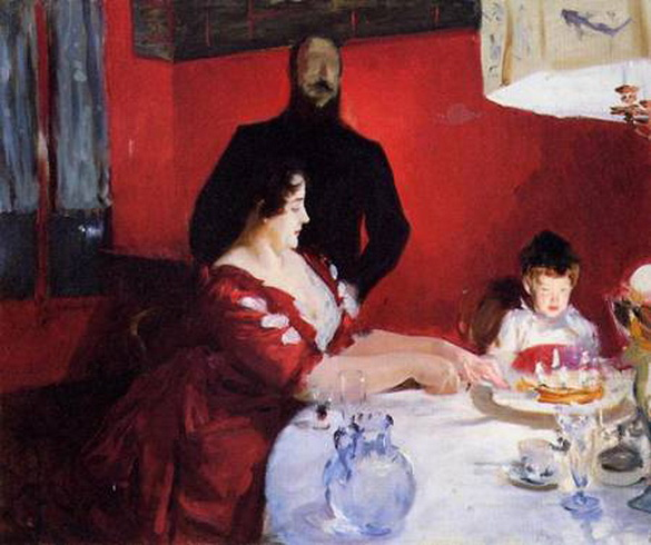 John Singer Sargent  - Fete Famillale The Birthday Party