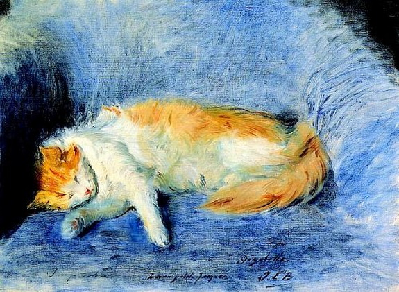Jacques-Emile Blanche - Sleeping Cat