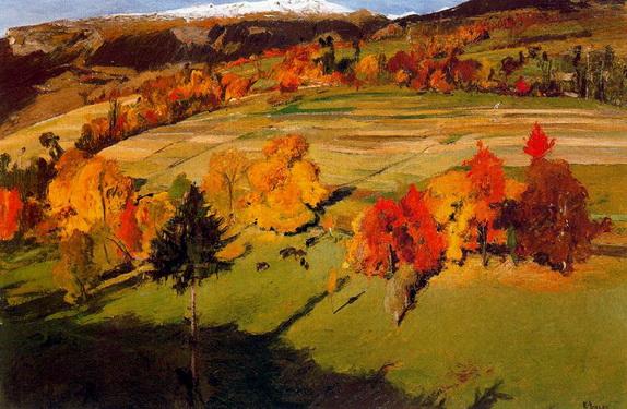 Ernest Bieler - Осенний пейзаж