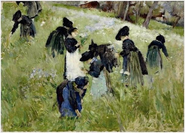 Ernest Bieler - Les femmes dans les champs