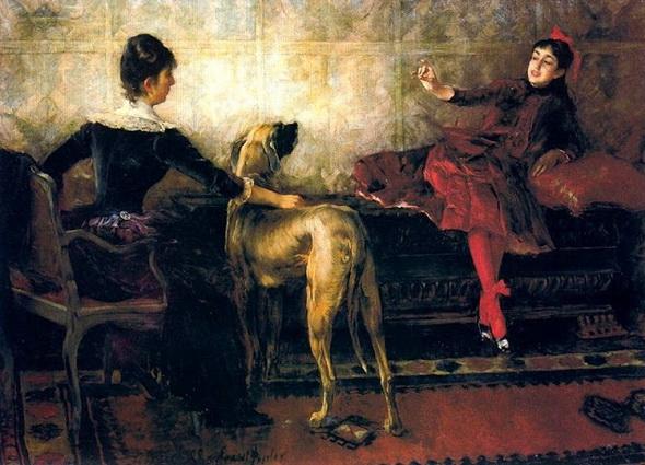 Ernest Bieler - Portrait des demoiselles Yvonne
