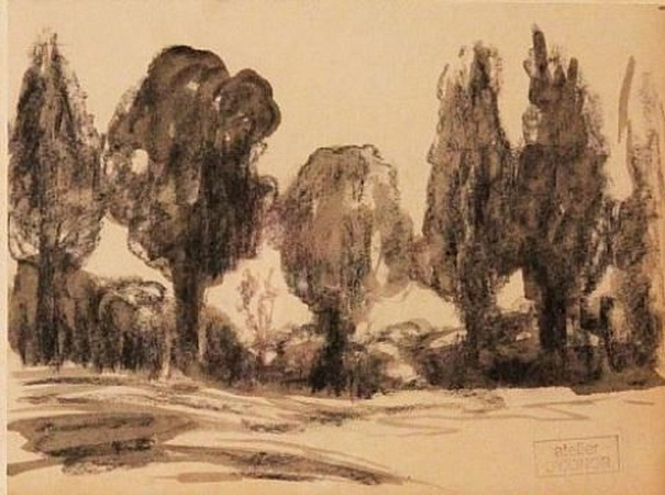 Roderic O`Connor - Cypress Trees
