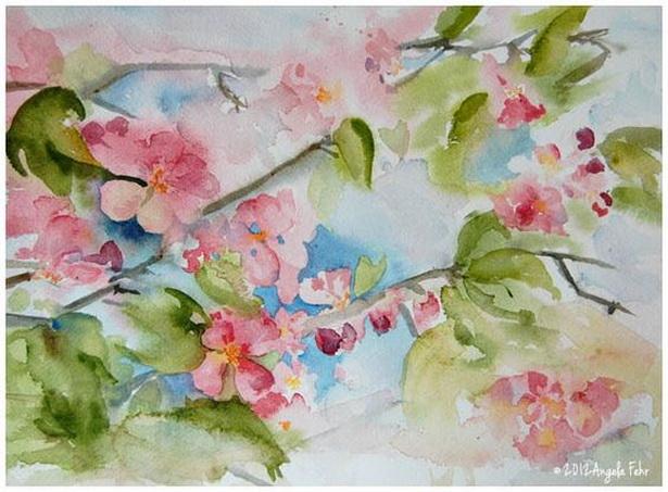 Angela Fehr - apple blossom sketch
