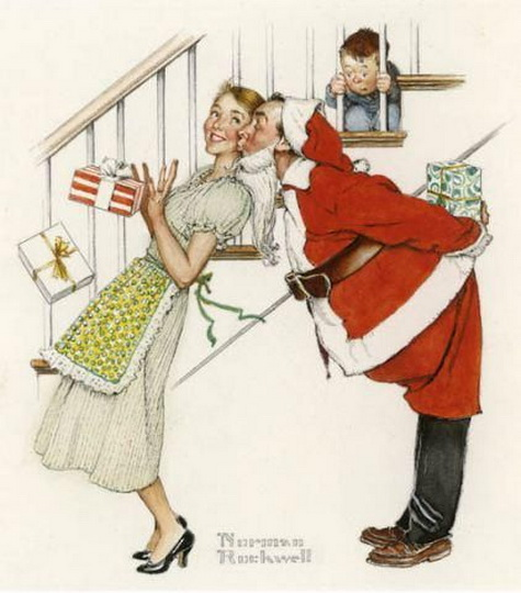Norman Rockwell  - I saw mommy kissing Santa Claus