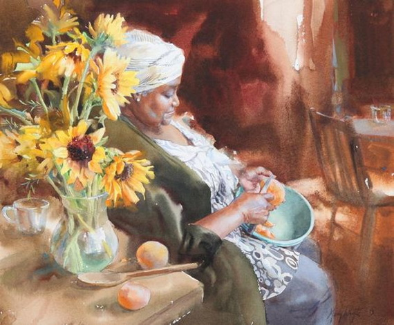 Mary Whyte - Kitchen Sunflowers