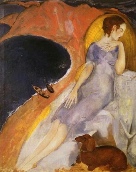boris anisfeld - The Woman on the Beach