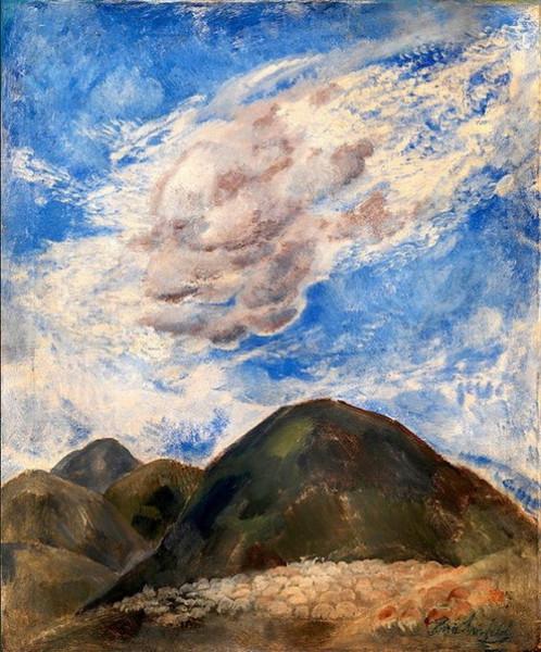 boris anisfeld -  Sheep under Clouds in Colorado
