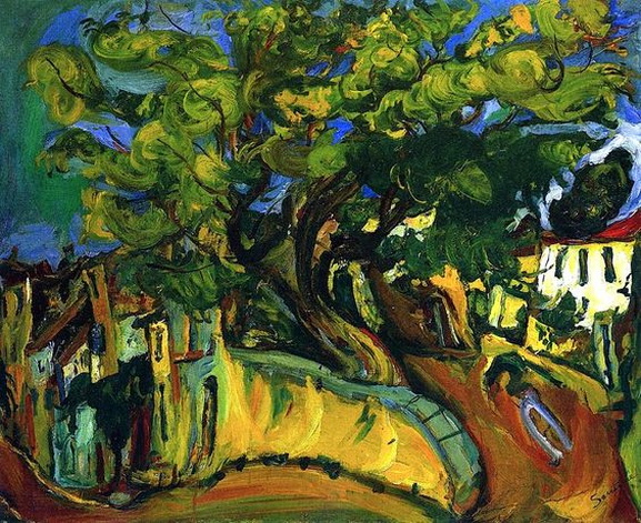 Chaim Soutine - Cagnes Landscape with Tree