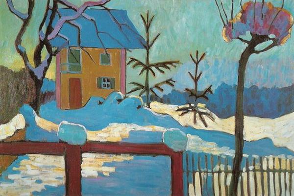 Gabriele Munter snowscape