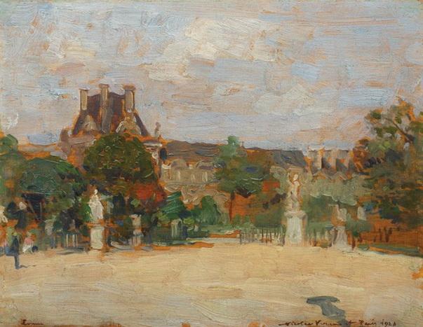 Nicolae Vermont - Intrare in Louvre