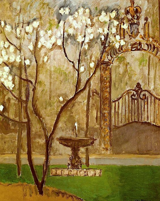 Kees Van Dongen -  Railings of Elysee Palace, Paris