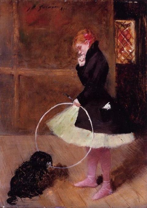 Jean-Louis Forain - Bailarin con un aro