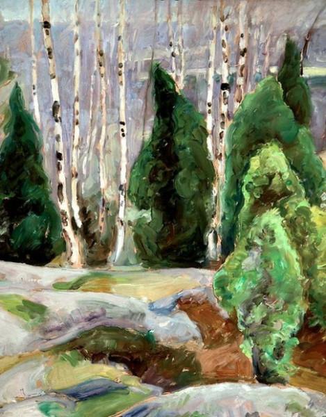 Pekka Halonen -  Cliffs in the Spring