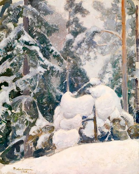 Pekka Halonen - pine tree in winter