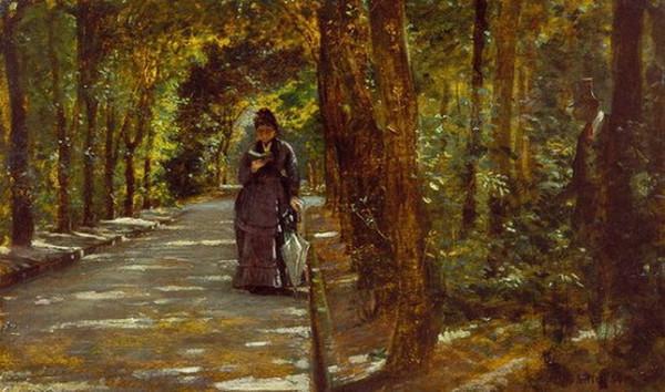 Giuseppe De Nittis - appuntamento al bosco di Portici