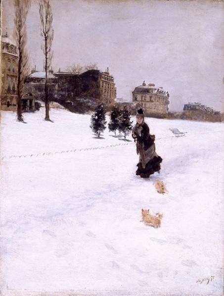 Giuseppe De Nittis - Sulla neve