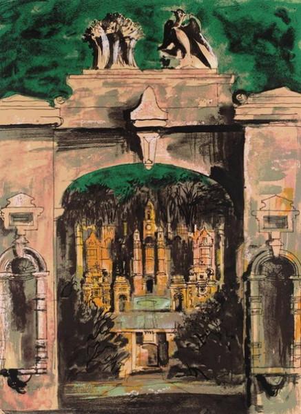 John Piper -  Harlaxton through the Gate