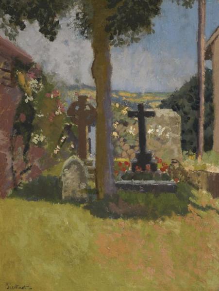 Walter Richard Sickert -  Chagford Churchyard, Devon, 1915