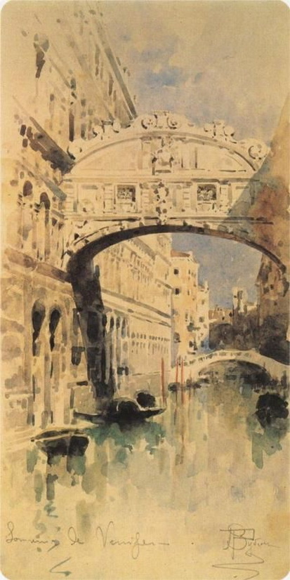 Mikhail Vrubel - Venice, Bridge of Sighs