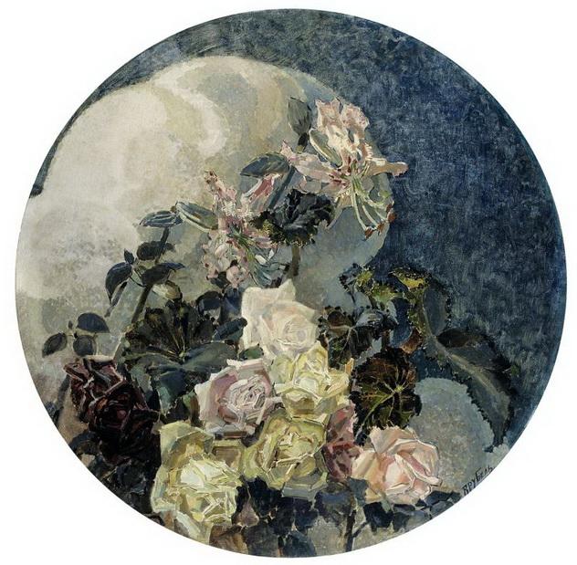 Врубель - Розы и орхидеи