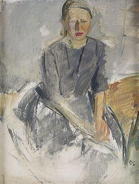 Olle Skagerfors - Portratt Mona Signerad