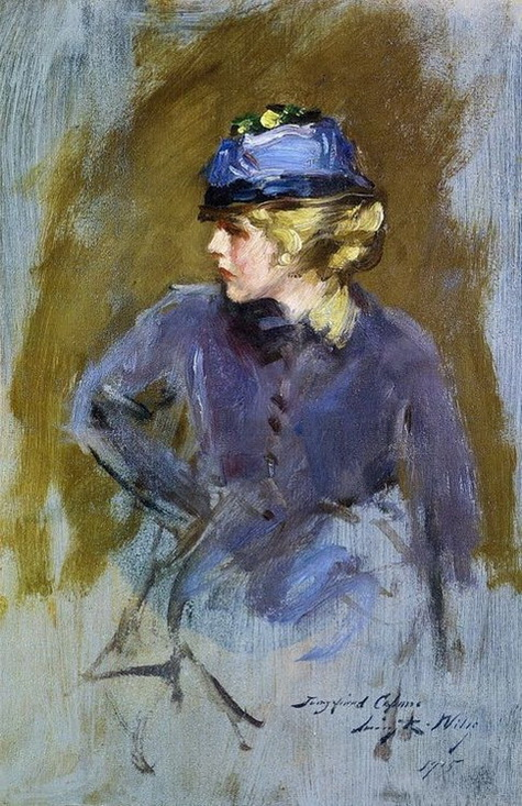 Irving Ramsey Wiles - Woman in Blue ( 1915)