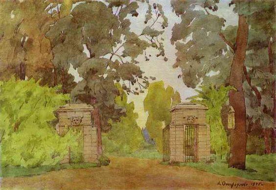 А.П.Остроумова-Лебедева pavlovsk-gates