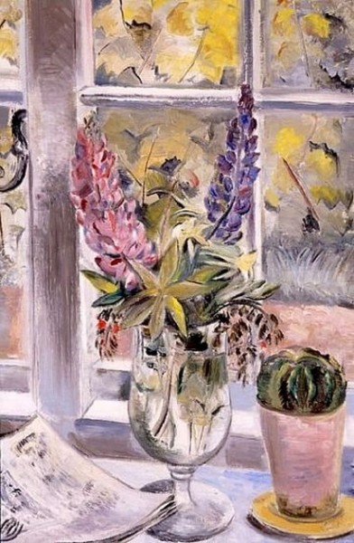 Paul Nash - Still Life with Lupins and Cactus, 1927