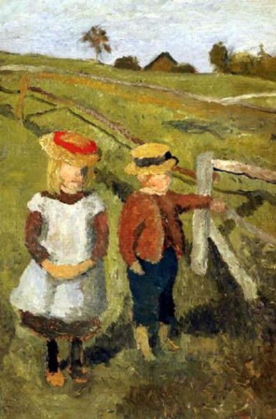 Paula Modersohn-Becker - Two children on a fence
