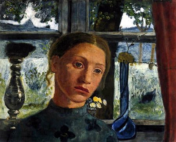 Paula Modersohn-Becker -  Girl in front of a window
